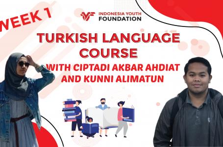 Turkish Languange Course Week 3