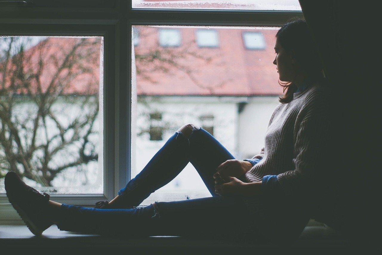 sitting near the windows