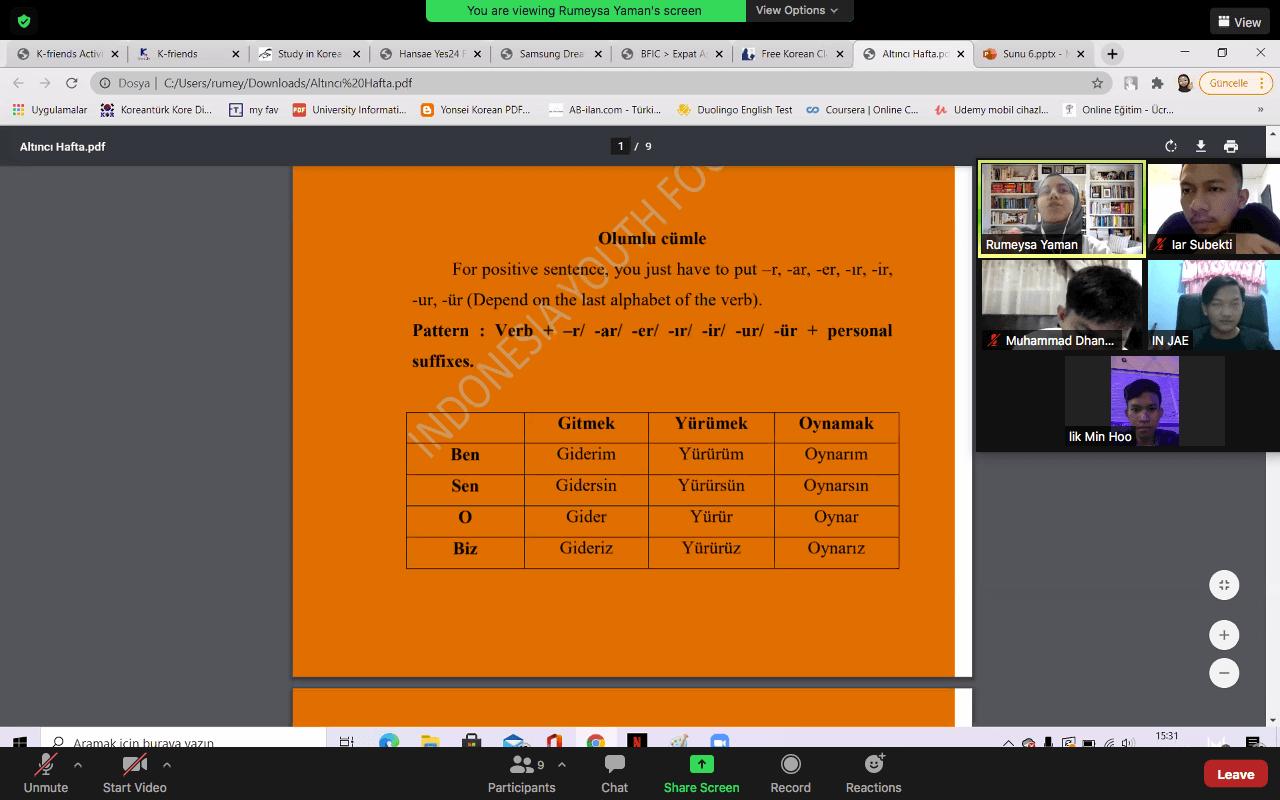 Turkish Language Course Week 6