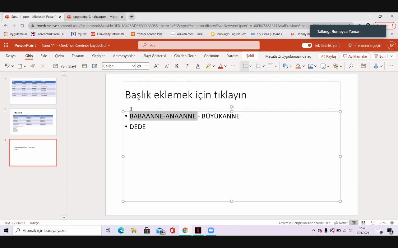 Turkish language course 9